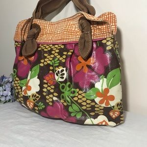 Fossil Bags - Fossil Keyper Coated Canvas Floral Satchel Tote